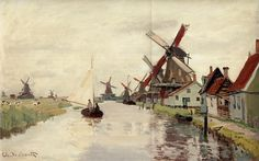 4 Beautiful Windmill Paintings By Claude Monet   http://thebrushstroke.com/4-beautiful-windmill-paintings-by-claude-monet/