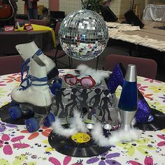 """Disco"" table created by Rhonda McKissack for HHS Performer Dessert Theater...""Music Through the Decades"""