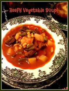 Sweet Tea and Cornbread: Beefy Vegetable Soup!