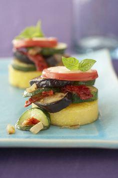 Eggplant-Polenta Stacks - WomansDay.com
