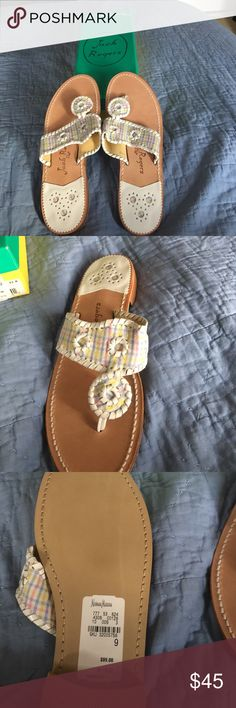 Jack Rogers sandals The Jack Rogers sandals are new in the box! They are perfect for spring and at a great price! Jack Rogers Shoes
