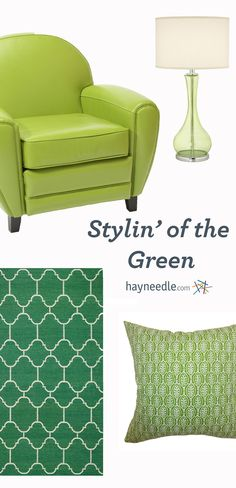 "According to color experts, bright green signifies positivity and a ""YAY!"" attitude. So go you! Add a throw pillow here, an of-the-moment ceramic stool there, or the much-coveted KitchenAid mixer in Apple Green. Wherever you add it, green says, ""Happy grows here!"""