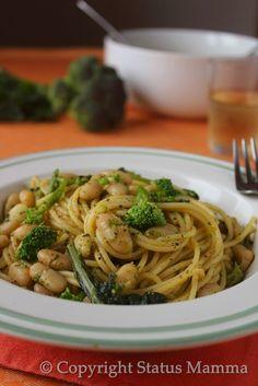 pasta broccoli e fagioli ricetta primo cucinare Statusmamma gialloblogs
