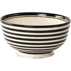 Keramikkskål sort/hvit