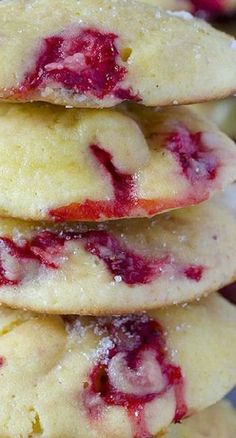 Cream Cheese Strawberry Cookies