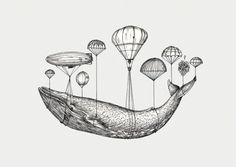 Hot air balloon whale