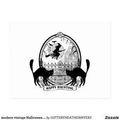 modern vintage Halloween witch