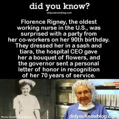 .longest serving nurse in US