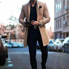 Mode Revers Kragen Plain Button Packets langen Mantel – InSIde (Mind, Body & So… Fashion Lapel Collar Plain Button Packets Long Coat – InSIde (Mind, Body & Soul). Rugged Style, Style Casual, Men Casual, Casual Styles, Men's Style, Smart Casual Men Winter, Man Street Style, Men Street, Style Brut