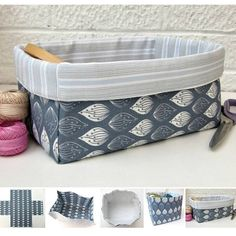 Baby Diy Pillow Tutorials 65 New Ideas diy baby - Her Crochet Fabric Storage Boxes, Fabric Boxes, Storage Bins, Fabric Crafts, Sewing Crafts, Sewing Projects, Pillow Tutorial, Diy Tutorial, Fabric Basket Tutorial