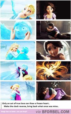 Frozen and Tangled [gifset] I love this! //And maybe, just maybe, Rapunzel thawed Eugene's frozen heart too. Frozen in time Disney Jokes, Disney Facts, Disney And Dreamworks, Disney Pixar, Disney Characters, Disney Frozen, Frozen And Tangled, Frozen Heart, The Big Hero