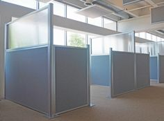 The Hush Panels (DIY cubicle partitions) are a wise choice to grow with your organization. Cubicle Partitions, Office Partitions, Office Dividers, Room Dividers, Divider Walls, Partition Walls, Cubicle Walls, Privacy Panels, Desk Organization