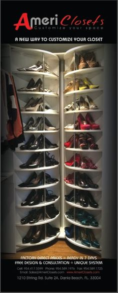 Lazy Lee - Spinning Shoe Rack closet system