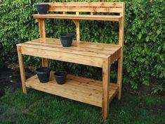 #CedarPottingbench, #Gardenworktable, #pottingtable- #shipping #customraisedgardens #kits #gardens #outdoor #workbench #entertainment