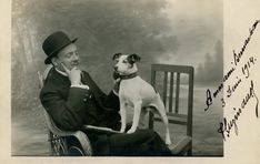 A Man and His Dog, 1914 | A real photo postcard of a man and… | Flickr Photo Postcards, Vintage Photos, Terrier, Dog, Cats, People, Prints, Diy Dog, Gatos