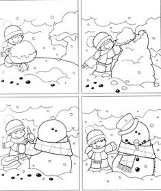 the honey patch - Rosella Horst - Álbuns da web do Picasa Preschool Christmas, Kids Christmas, Winter Activities, Activities For Kids, Snowman Games, Story Sequencing, English Activities, Picture Story, Korean Art