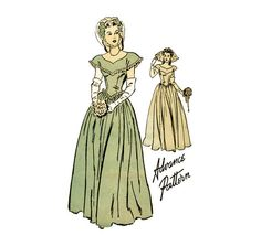 1940s Wedding Dress Pattern Advance 4222 Misses by CynicalGirl, $26.00
