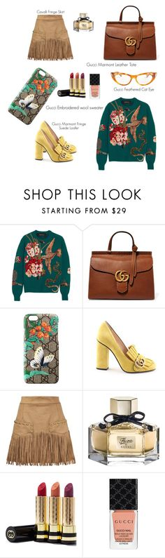 """Spring x Gucci"" by jaydamilan on Polyvore featuring Gucci, Just Cavalli, gucci, springfashion and madeWithMilan"