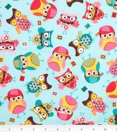 Spring Owl Fabric FLANNEL 1 yard by Sweetbobbinsfabric on Etsy. $8.00 USD, via Etsy.
