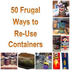 Frugal Ways to Reuse Containers - Check out all of the ways that you can upcycle containers that  you already have in your home. It'll save you money each year and keep usable items out of landfills.  Great genius hacks to get 'ya thinkin'