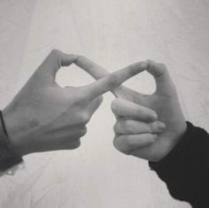 Infinity sign with your fingers. Need to do this with one of my Besties