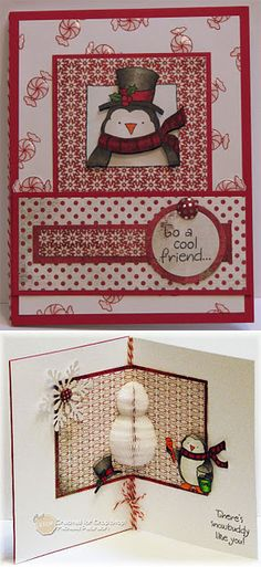 Create a Snowman Challenge using Honeycomb paper and Inky Antics HoneyPop stamps by Michelle Pearson