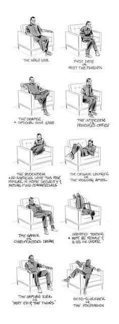 Sitting poses by Dan Milligan,
