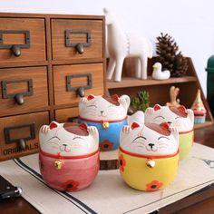Lucky trang trí _zakka Lucky Nhật Bản đồ trang trí ngân hàng heo con mèo sơn khoe anh đào mèo thành bốn loại chương trình khuyến mãi - Alibaba
