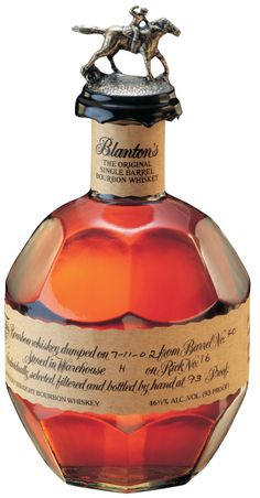 Blanton's Single Barrel 93 Proof Kentucky Straight Bourbon is a winner of five gold medals in international spirits competitions. The nose is very deep with a taste that has a masterful start with powerful dry vanilla notes, hints of honey and strong caramel. The long, creamy caramel holds until some late soft peppers arrive. The underlying dryness amid the spice and honey makes for bourbon that should suit all tastes.