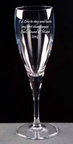Sound of Music - Liesl engraved Champagne Glass