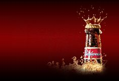 """The classic pale lager, Budweiser - """"King of Beers"""". The crown. Our pale lager is a little different. Budweiser Commercial, Beer Commercials, Beer Online, Mike B, Beer Fest, Beer Brands, Wine And Beer, Red Background, 21st Birthday"""