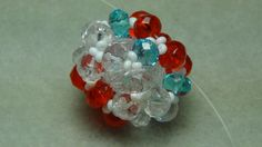 Easy Beaded Ball Tutorial - YouTube. she used multicolored beads so you can follow along easily. Your finished bead will be much prettier.
