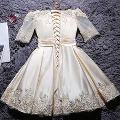 2017 new fashion short design party plus size vestido de festa champange color prom dresses
