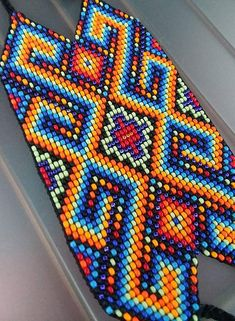 Peyote Stitch Patterns, Bead Loom Patterns, Beading Patterns, Beading Ideas, Graph Paper Art, Pattern Paper, Kilt Pattern, Native American Crafts, Bead Jewellery