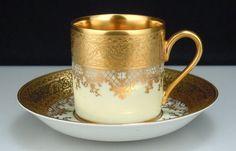 Vintage Karlsbader Gold Demi Cup Saucer