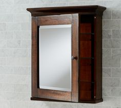 Mason Wall Mounted Medicine Cabinet Rustic Mahogany Finish Pottery Barn 369