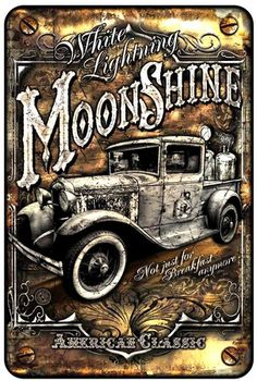 Moonshine Truck Tin Sign at AllPosters.com