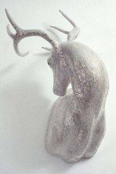Deer sculpture / Marc Swanson - Wow this is beautiful! Walker Art, Oh Deer, Buck Deer, Animal Heads, Art Plastique, Sculpture Art, Sculpture Ideas, Sculpture Techniques, Amazing Art