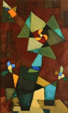 """""""Megánthemum"""" by Paul Klee. I don't really like this piece, as the colours look really dull. I don't think the brown works well with the dark green. Although, I really do like the placement of the shapes, as they look very aesthetically pleasing. Kandinsky, Abstract Expressionism, Abstract Art, Abstract Paintings, Oil Paintings, Painting Art, Watercolor Painting, Watercolor Artists, Painting Tips"""