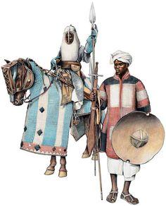 SUDANESE MAHDIST WARRIORS 1:Baqqara Cavalryman.2:Judanese footsoldier.