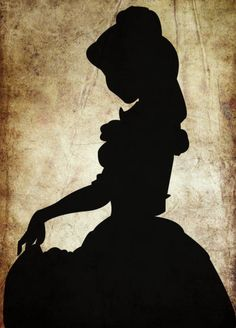 bell silhouette-both men and women-is the dark shape or outline of something visible