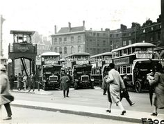Victoria bus station in 1927 at least 7 NS class buses here . London Bus, London Street, London City, London Pictures, London Photos, London Underground, Vintage London, Old London, Richard Branson