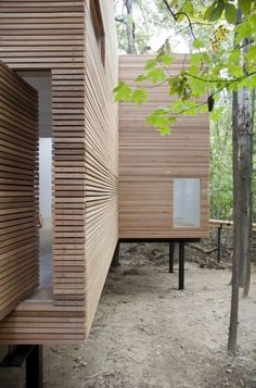 T Space / Steven Holl Architects IS / Yo Yamagata Architects architecture, modern Wood Architecture, Residential Architecture, Amazing Architecture, Contemporary Architecture, Installation Architecture, Casas Containers, Timber Cladding, Cladding Ideas, Exterior Cladding