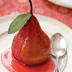 spiced wine poached pear recipe