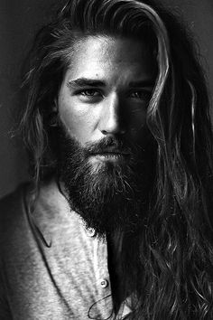 Ben Dahlhaus favors my hubs but hubs has dark brown hair and refuses to keep a well groomed beard. Latest Beard Styles, Beard Styles For Men, Hair And Beard Styles, Curly Hair Styles, Barba Grande, Shaved Curly Hair, Long Curly Hair, Thin Hair, Ben Dahlhaus