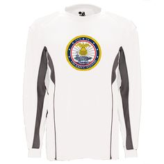 USS John C. Stennis Graphite Long Sleeve Shirt now available! Show your Navy Service pride with this White/Graphite Performance Long Sleeve Shirt. This performance shirt features 100% Polyester antimicrobial, moisture wicking fabric that will keep you cool, dry, and comfortable. THIS IS A PERFORMANCE FABRIC SHIRT, NOT COTTON. Designed, Printed & Sublimated in the USA -Fabric Imported.