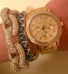 WRISTOLOGY watches ALEX gold $78  (with coupon code IPINNEDIT) paired with bracelets