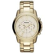 Fossil Men's Chronograph Grant Gold-Tone Stainless Steel Bracelet Watch 44mm FS4814
