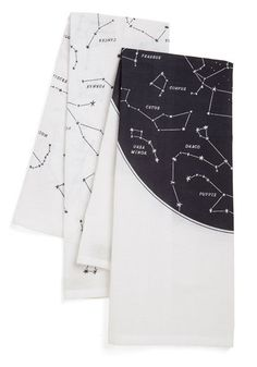 Celestial Chateau Tea Towel Set. While youve got your feet on the ground, youre always shooting for the stars - even in your decor, with these printed tea towels! #gold #prom #modcloth