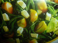 insalata di fagiolini pomodori e lattuga